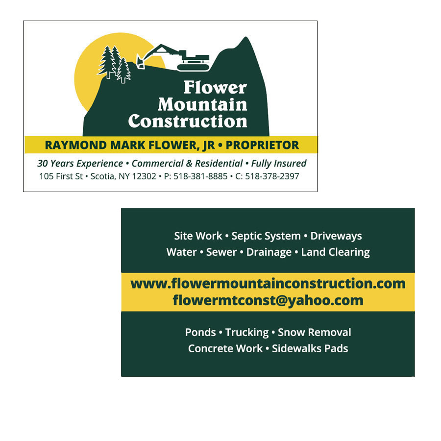 Land Clearing Business Cards Choice Image - Card Design And Card ...