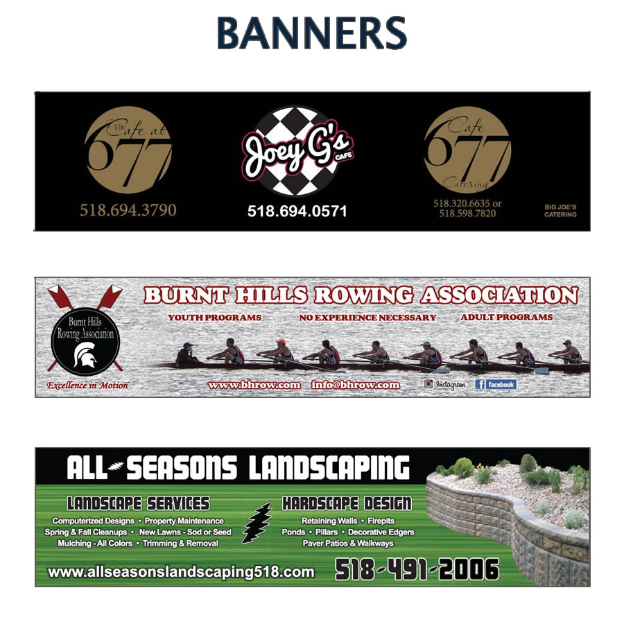 Custom designed banners