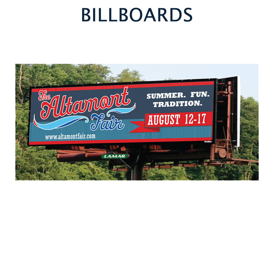 Custom designed billboards
