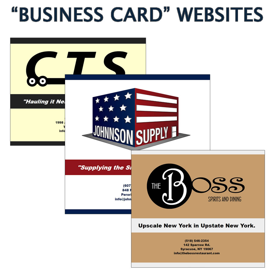 Custom designed Business Card Websites