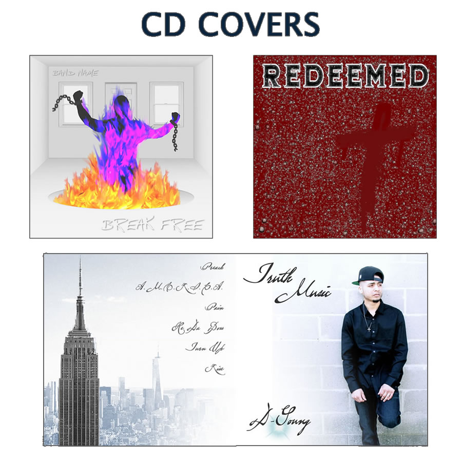 Custom designed CD covers