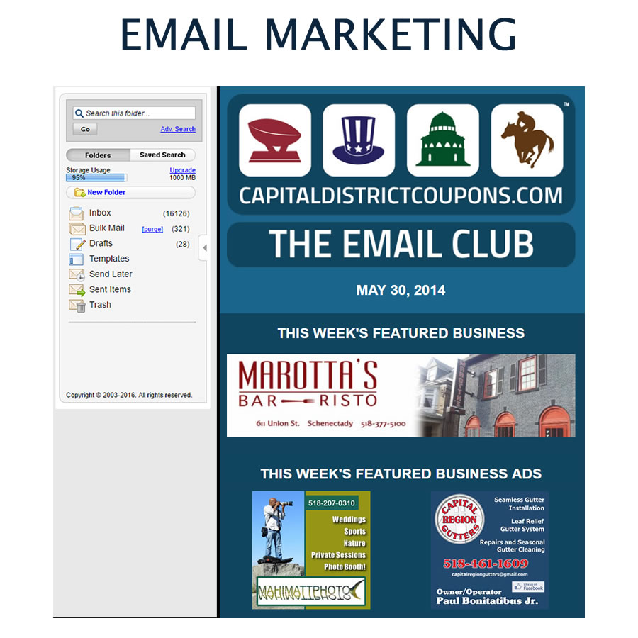 Custom designed email marketing