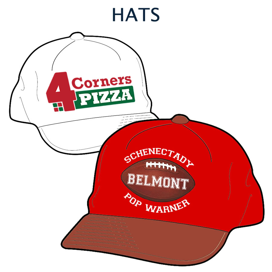 Custom designed hat graphics