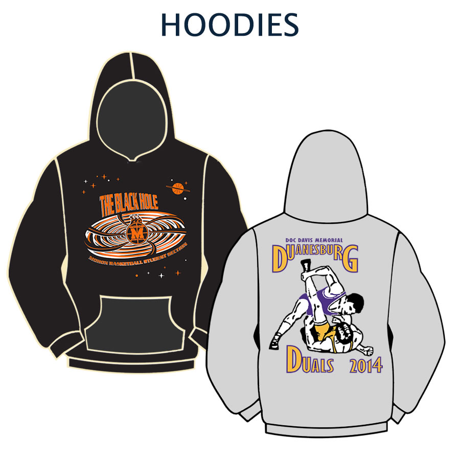 Custom designed hoodie graphics