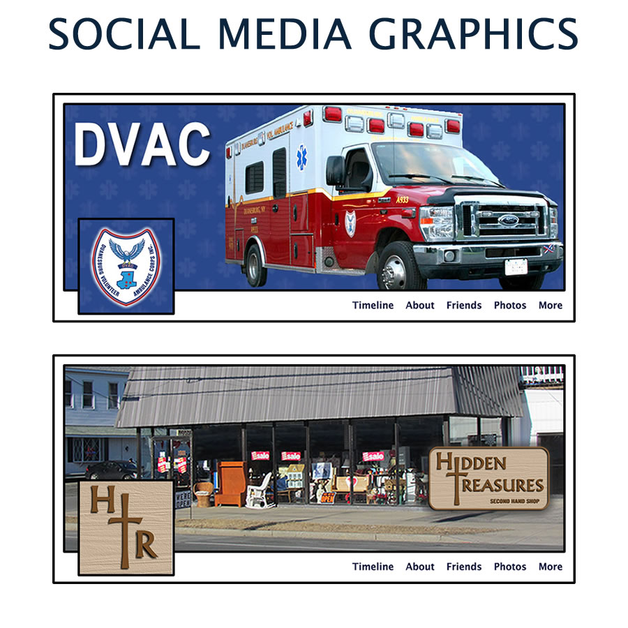 Custom designed social media graphics