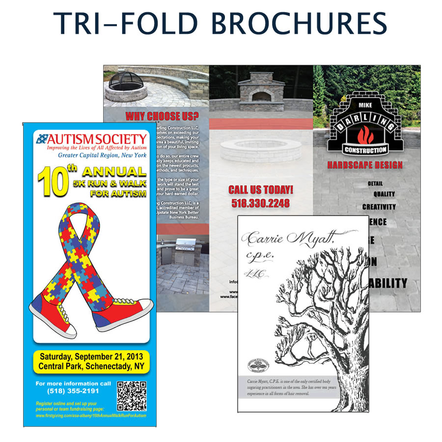 Custom designed trifolds and brochures